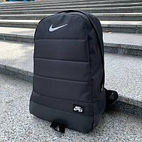Мужской городской рюкзак Nike, вместительный спортивный черный рюкзак , стильный качественный из ткани оксфорд