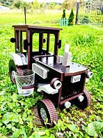 Дерев'яний Міні-бар Трактор 26*14*20 см, фото 1