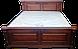 Кровать из  дерева Корадо (160*200) белая+ золото, фото 2
