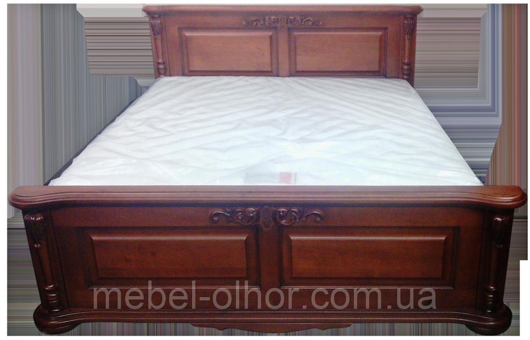 Кровать из дерева Корадо (160*200)в белом цвете