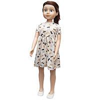 Большая кукла 80 см, Sum Sum, в платье с лошадками, темные волосы (sum950157)