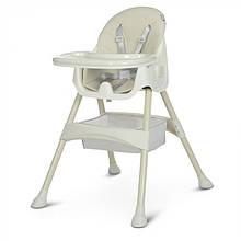 Детский стульчик для кормления M 4136 Ice Gray