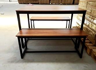 Комплект кухонной мебели JUST LOFT  Стол и 2 лавочки ПОЛЬША