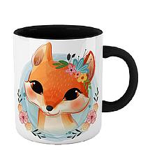 Чашка Лисица в цветах, фото 3