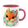 Чашка Лисица в цветах, фото 5
