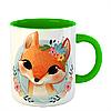 Чашка Лисица в цветах, фото 4