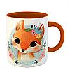Чашка Лисица в цветах, фото 2