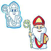 Святий Миколай вирубка з трафаретом 12.5*9.5 см (TR-1)