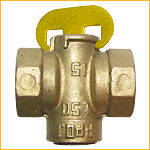 Кран латунный конусный муфтовый для газа 1/2``, 11Б34бк