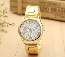 Чоловічі наручні годинники Geneva золото