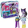 Игровой набор куклы Энчантималс «Вместе веселее» Enchantimals Скунс Сейдж Скунси и питомец Кейпер 15 см