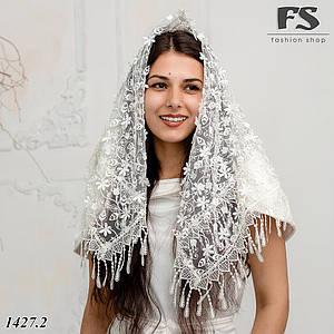 Молочный Свадебный платок Ребекка