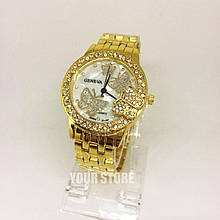 Женские наручные часы Geneva с бабочкой