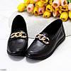 Комфортные кожаные черные женские мокасины натуральная кожа с декором, фото 2