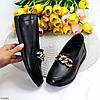 Комфортные кожаные черные женские мокасины натуральная кожа с декором, фото 10