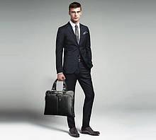 Мужская сумка портфель для документов А4, мужской портфель для работы, офисная сумка ПУ кожа черная коричневая