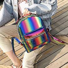 Дитячий блискучий рюкзак Веселка