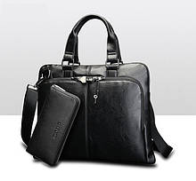 Мужской деловой портфель с клатчем
