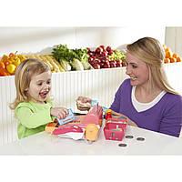 Детский кассовый аппарат с набором продуктов.Ссупермаркет Just Like Home Cash Register