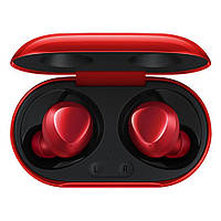 Беспроводные наушники, блютуз наушники Samsung Buds+ с кейсом. Цвет: красный