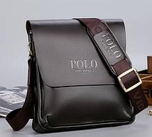Сумка-планшет мужская Polo эко кожа, мужская сумка через плечо кожаная барсетка планшетка Поло