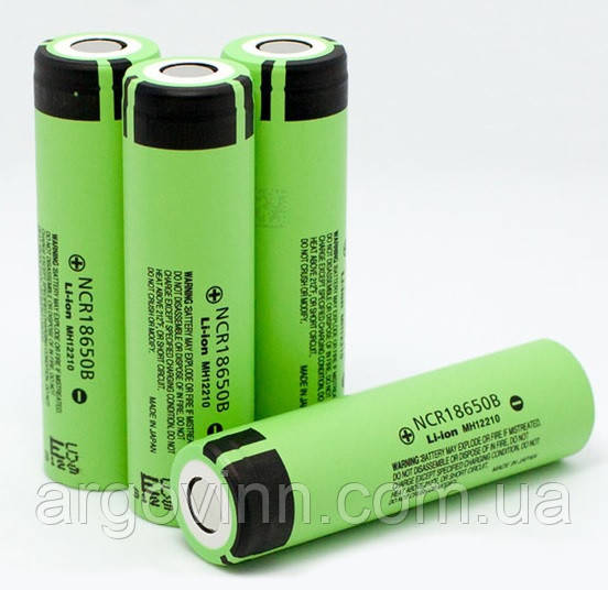 Акумулятор 18650 Li-Ion Panasonic NCR18650B, 3400mAh, 6.8 A, 4.2/3.6/2.5 V, GREEN, OEM