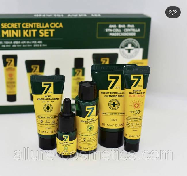 Набір засобів для проблемної шкіри особи MAY ISLAND 7 DAYS SECRET CENTELLA CICA MINI KIT SET 5