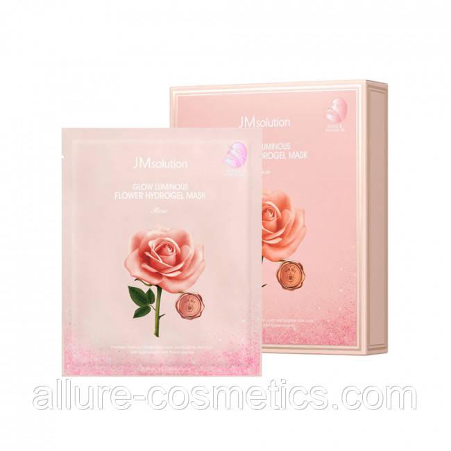 Гідрогелева маска з екстрактом дамаської троянди JMSOLUTION GLOW LUMINOUS FLOWER HYDROGEL MASK ROSE