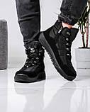 Ботинки мужские зимние на шнуровку и молнию (Пр-3804ч), фото 2