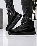 Ботинки мужские зимние на шнуровку и молнию (Пр-3804ч), фото 3