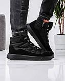 Ботинки мужские зимние на шнуровку и молнию (Пр-3804ч), фото 7