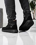 Ботинки мужские зимние на шнуровку и молнию (Пр-3804ч), фото 8