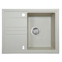 Мийка кухонна гранітна Perfelli SILVE PGS 134-64 LIGHT BEIGE, фото 1