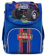 Рюкзак шкільний каркасний Smart PG-11 Big Wheels Синій (555971), фото 4