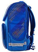 Рюкзак шкільний каркасний Smart PG-11 Big Wheels Синій (555971), фото 5