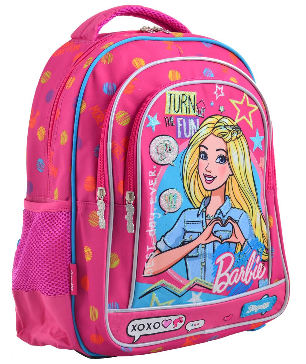Рюкзак шкільний 1 Вересня S-22 Barbie Рожевий (556335)