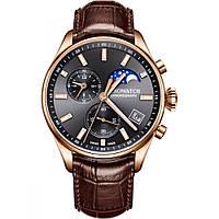 Оригинальные авиационные часы Aerowatch Les Grandes Classiques Moon-Phases 78990RO02