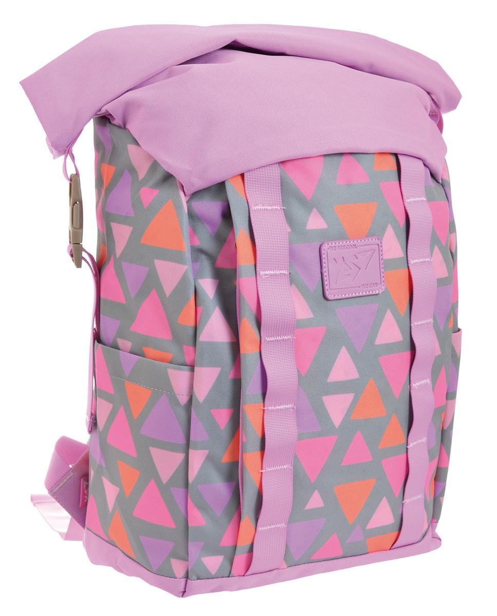 Рюкзак міський YES Roll-top T-61 Colorful Geometry 18 л Фіолетовий (557309)