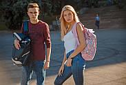 Рюкзак міський YES Roll-top T-61 Colorful Geometry 18 л Фіолетовий (557309), фото 4