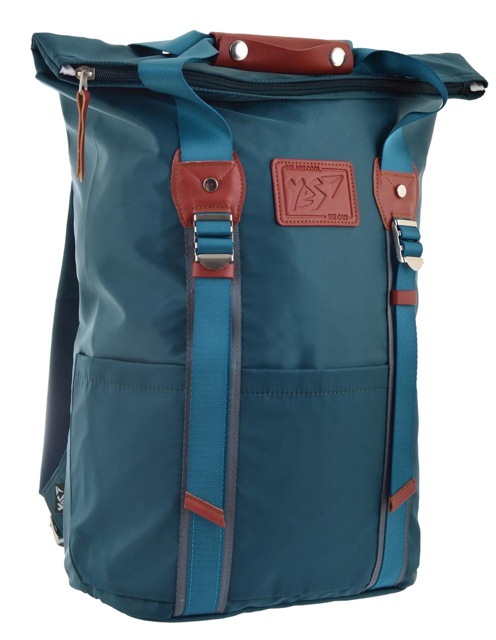 Рюкзак міський YES Roll-top T-58 Emerald 14 л Синій (557257)
