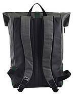 Рюкзак міський YES Roll-top T-77 17.5 л Green Anthracite (557430), фото 4
