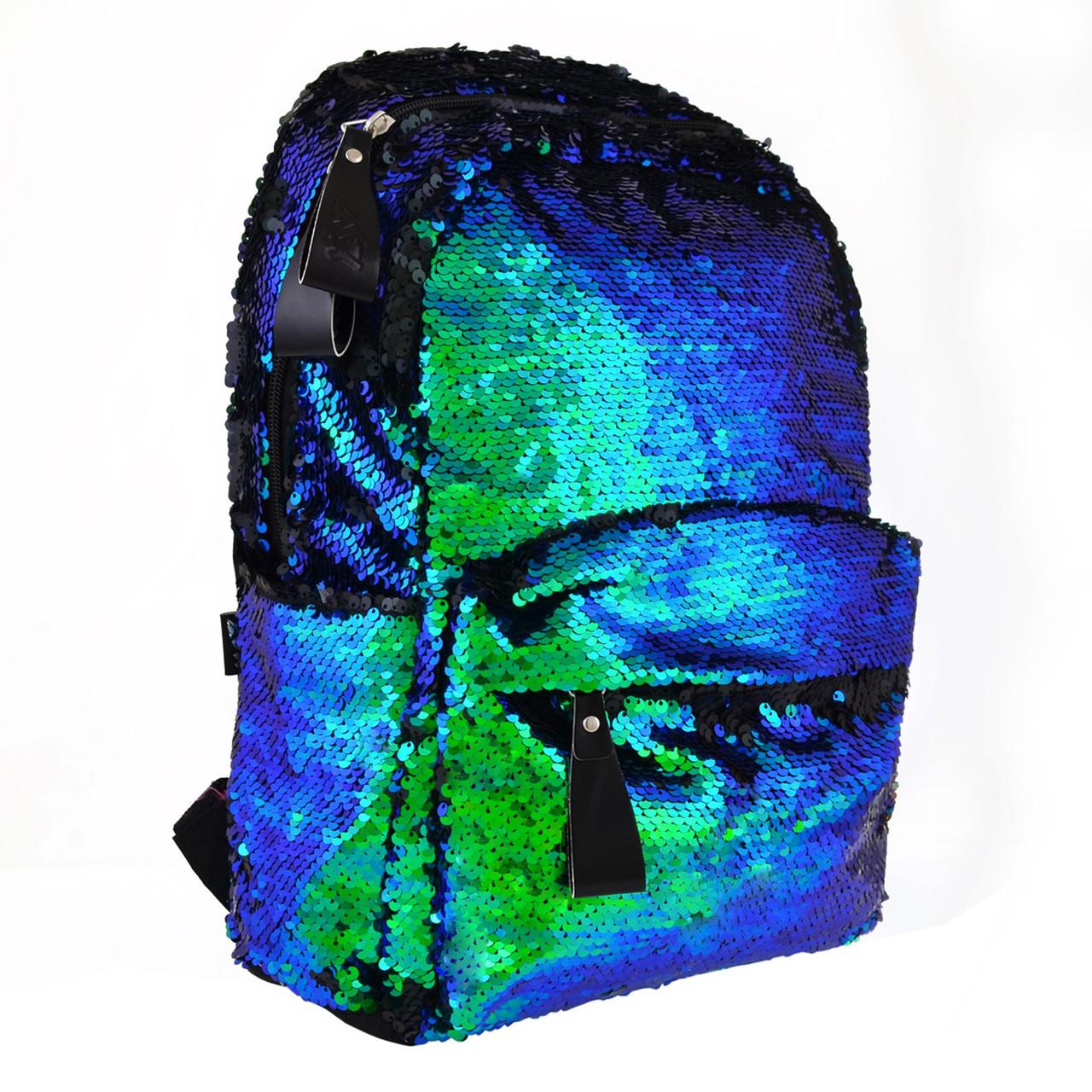 Рюкзак молодіжний YES GS-01 з паєтками 13 л Green Chameleon (557678)