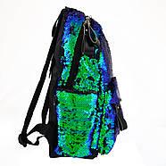 Рюкзак молодіжний YES GS-01 з паєтками 13 л Green Chameleon (557678), фото 2