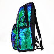 Рюкзак молодіжний YES GS-01 з паєтками 13 л Green Chameleon (557678), фото 3