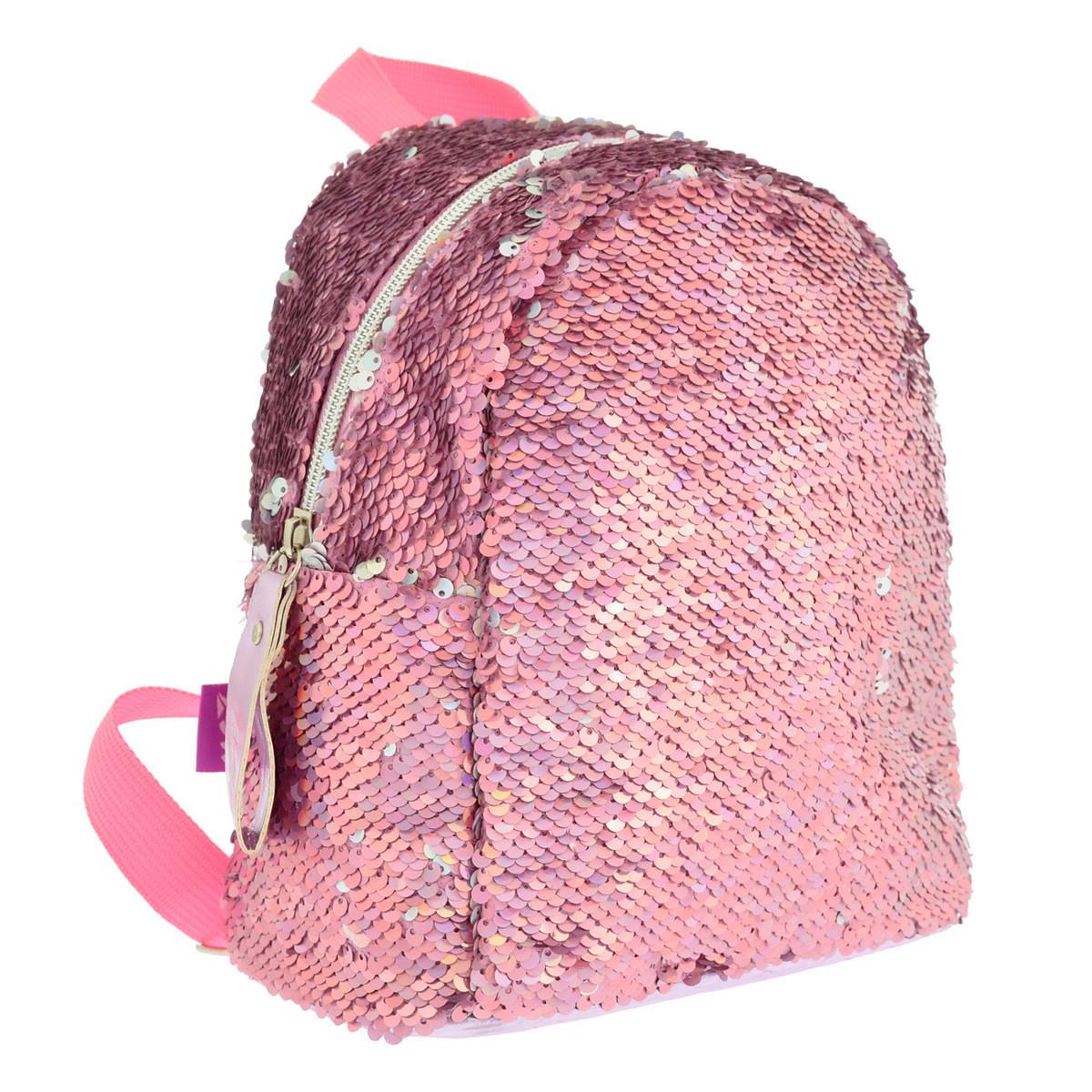 Рюкзак молодіжний YES GS-02 з паєтками 7 л Pink (557651)