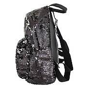 Рюкзак молодіжний YES GS-03 з паєтками Black (557655), фото 2