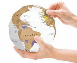 Скретч карта мира в форме глобуса ( Scratch Globe )