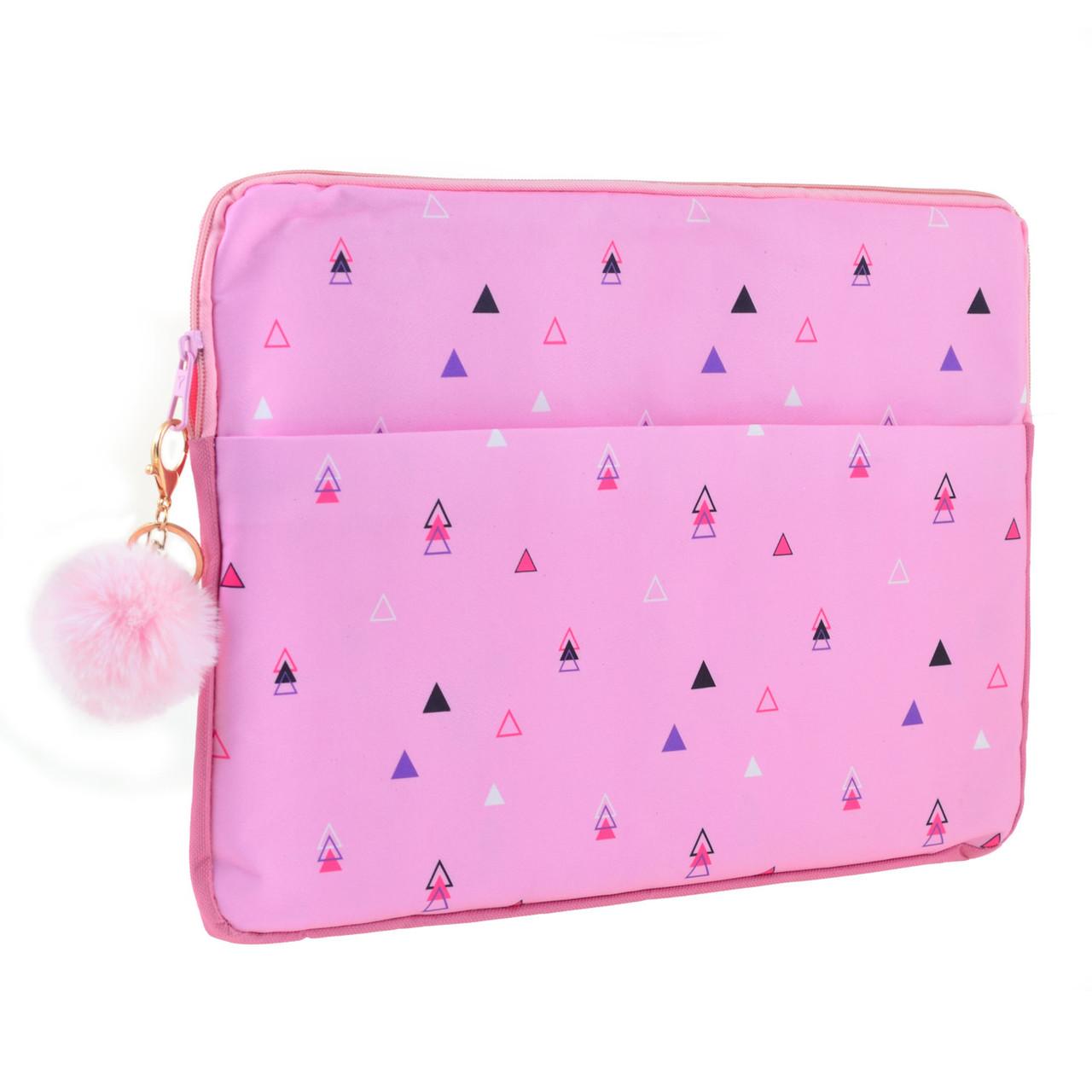 "Чехол для ноутбука YES ""Triango"" Розовый (557822)"