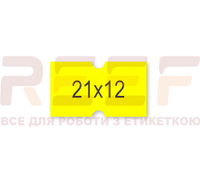 Этикет-лента 21x12 прямоугольная лимонная