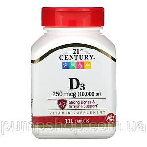 Вітамін Д-3 21st century Vitamin D3 10000 IU 110 капс.